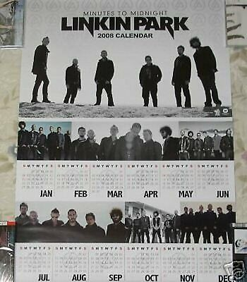 Linkin Park Minutes To Midnight Taiwan Promo 2008-year Calendar Poster