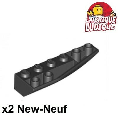 Lego 2x Wedge inverted 6x2 right droite gris f.//dark bluish gray 41764 NEUF