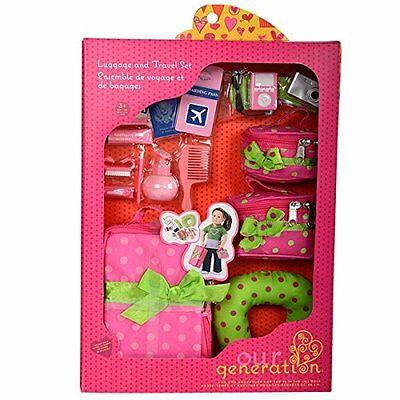 """Our Generation Dolls Doll Luggage and Travel Set, 18"""""""