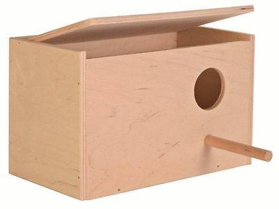 Trixie Wooden Budgie Nest Nesting Box With Perch Cage Aviary Opening Top 5630