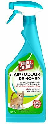 Simple Solution Cat Pet Stain & Odour Remover Spray 750ml