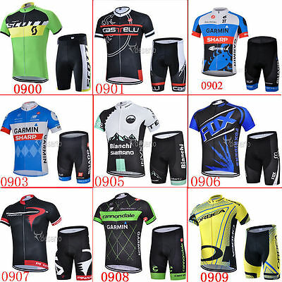2016 S9 New short sleeve Men team cycling jersey,shorts set GEL pad Full Zipper