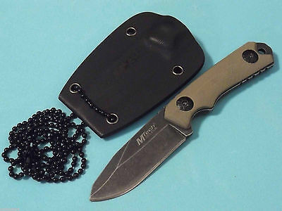 "MTech MT2030 Mini Neck Knife Stonewashed fixed blade 4 3/4"" overall MT-20-30 NEW"