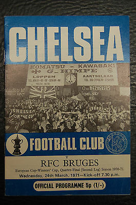 Chelsea V Rfc Bruges  24/03/1971  European Cup Winners Cup - Winning Season