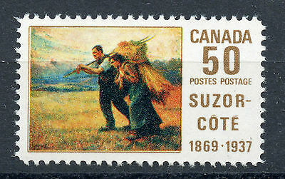 Weeda Canada 492 VF mint NH, 50c Suzor-Cote 1969 Original Art Canada issue CV $5