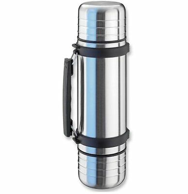 Isosteel VA-9562DQ 1.0 L Duo Vacuum-Insulated Flask with Quickstop Single-Hand P