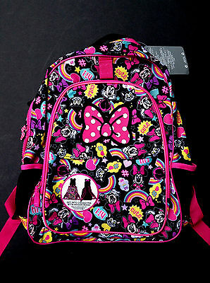 DISNEY Store BACKPACK MINNIE MOUSE and FIGARO with HOOD School 2016 NWT