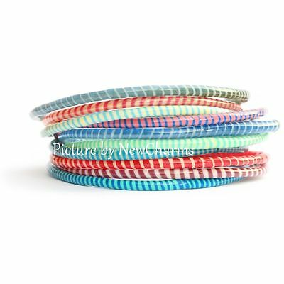 10 Recycled Flip Flop Bracelets Hand Made in Mali West Africa Fair Trade Sourced