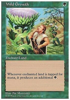 4x Crescita Rigogliosa - Wild Growth MTG MAGIC 5E 5th Edition Eng/Ita