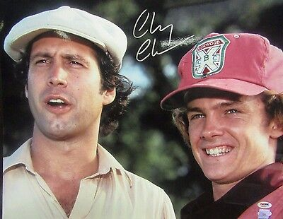 CHEVY CHASE SIGNED AUTOGRAPHED BUSH WOOD CADDYSHACK 16 x 20  PICTURE PSA / DNA
