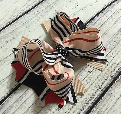 Handmade Back to School Toddler/Girls Stacked Boutique Hair Bows