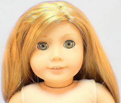 American Girl Mia Doll Long Strawberry Blond Hair with Freckles