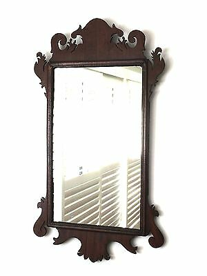 Antique Chippendale style Mahogany Wall Mirror