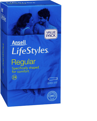Ansell Lifestyles Regular Condom Easy Fit Bulk Buy 24 Condoms