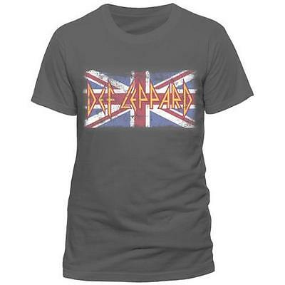 Def Leppard - Union Jack Logo Mens Short Sleeve Cotton T-Shirt - New & Official