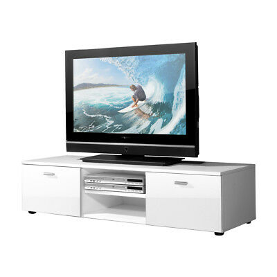tv lowboard wei hochglanz 120 cm breit 30 cm hoch tv. Black Bedroom Furniture Sets. Home Design Ideas