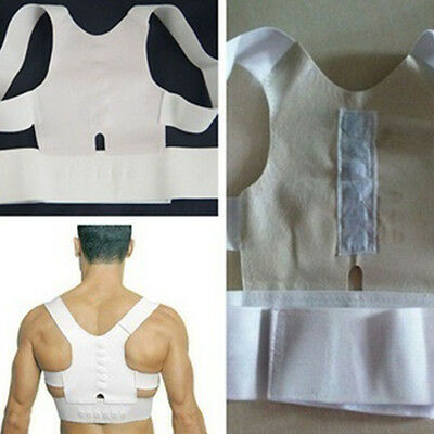 Magnetic Posture Corrector Support Brace Adjustable Shoulder Therapy Back Belt