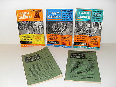 Vintage 1950's / 60's Farm and Garden Magazines / Booklets - set of 5