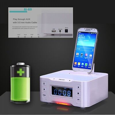 Super Bass Bluetooth Wireless Subwoofer Stereo FM Radio Speaker For iPhone iPad
