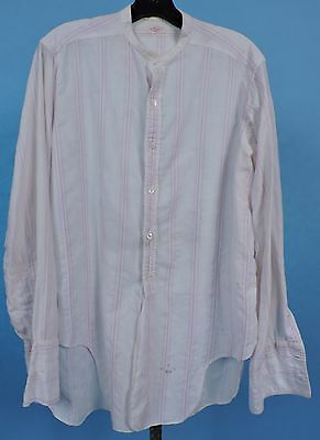 Eaton 1920'S Men'S Striped Band Collar Shirt