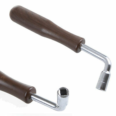 L shape Guzheng Zither Piano Tuning Hammer Wrench Tuner Spanner Brown Useful