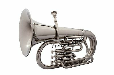 Premier MW EUPHONIUM FOR SALE  NICKEL PLATED NICELY TUNED WITH HARD CASE + M