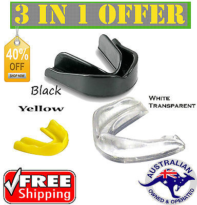 Gum Shield Mouthguard Boil Bite Teeth Protector Boxing MMA Hockey Karate Rugby