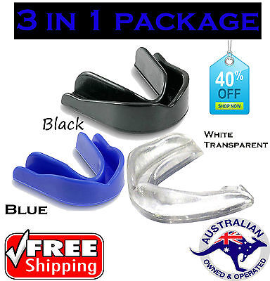 Mouthguard Gum Shield Boil Bite Teeth Protector Boxing MMA Hockey Karate Rugby