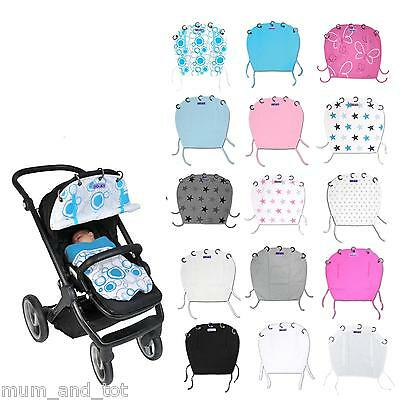 Dooky Pram Shade Pushchair Sun Wind Rain Parasol Cover Car Seat Universal Fit
