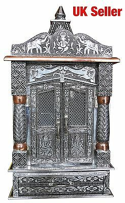 "Oxidised Copper Puja Pooja Mandir Hindu Temple 10""W X 6""D X 23""H_UK Seller"