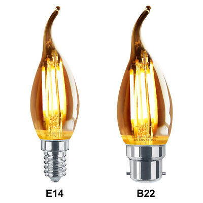 Antique Style Edison Vintage LED Candle Light Bulbs Industrial Retro B22 or E14
