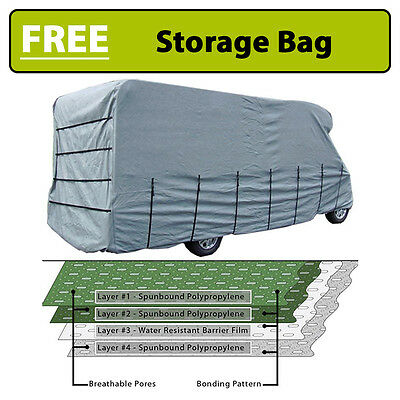 Maypole Premier Motorhome Cover - 7.0m to 7.5m – 4 Ply Breathable & Waterproof
