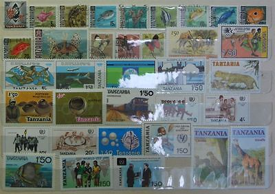 Tanzania Lot of 35 Mixed Used & MNH Low Combined Shipping