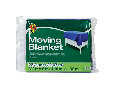 """NEW! DUCK BRAND Movers Blanket 45"""" x 72"""" 280963  FREE SHIPPING!"""