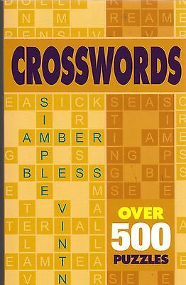 Crossword Book - 545 Puzzles - New Book