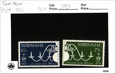 Surinam Stamps Lot Scott 354-355 MLH Low Combined Shipping