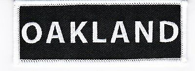 ONE OAKLAND 1.5x4 SEW/IRON ON PATCH EMBROIDERED NFL OAKLAND RAIDERS A'S BIKER