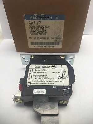 New Westinghouse Aa11P Thermal Overload Relay 1 Pole Nema Size 1 (B173)