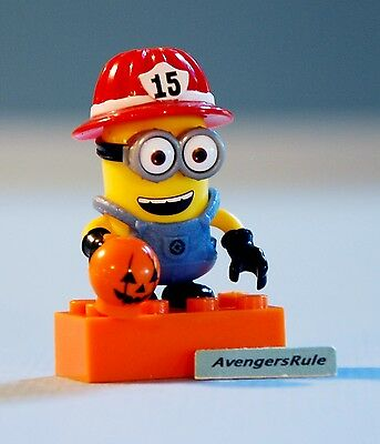 Despicable Me Mega Bloks Series Halloween Minion Fire Fighter