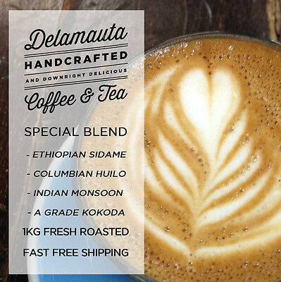 1KG Delamauta Fresh Roasted Coffee Special Blend Whole Bean or Ground