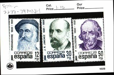 Spain Stamps Lot Scott 2277-2279 MNH Low Combined Shipping