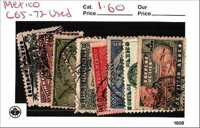 Mexico Stamp Lot Scott C65-71 Used Low Combined Shipping