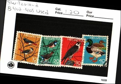 Switzerland Stamps Lot Scott B402 - 405 Used Low Combined Shipping
