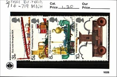 Great Britain Stamp Lot Scott 716-719 MNH Low Combined Shipping