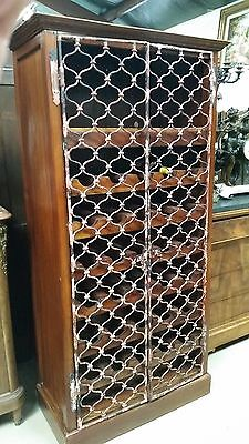 Metal Fretwork Open Wine Rack H69'' X W31.5 X D16.25''