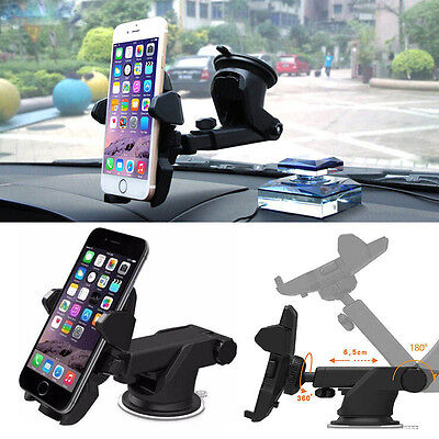 Car Holder Mount Bracket Long Neck One-touch Telescopic Arm For Universal Phone