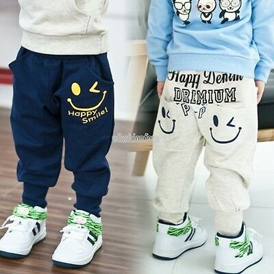 New Kids Toddlers Girls Boys Collapse Harem Pants Cotton Children Trousers 3-8 Y
