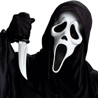 Ghost Face Head Mask Scream Emulsion Latex White Halloween Creepy Costume Party
