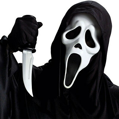 Ghost Face Head Mask Scream Emulsion White Halloween Creepy Costume Party Dress