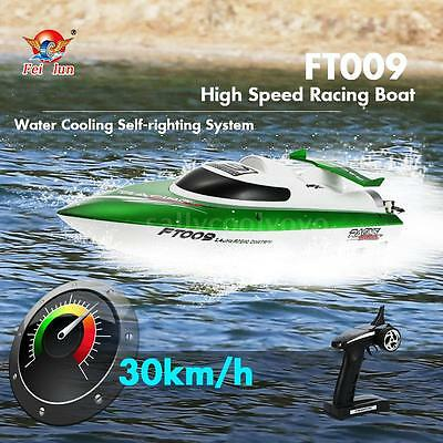 Feilun FT009 2.4G 30km/h High Speed RC Racing Barco Boat w/ Water Cooling Z6H5
